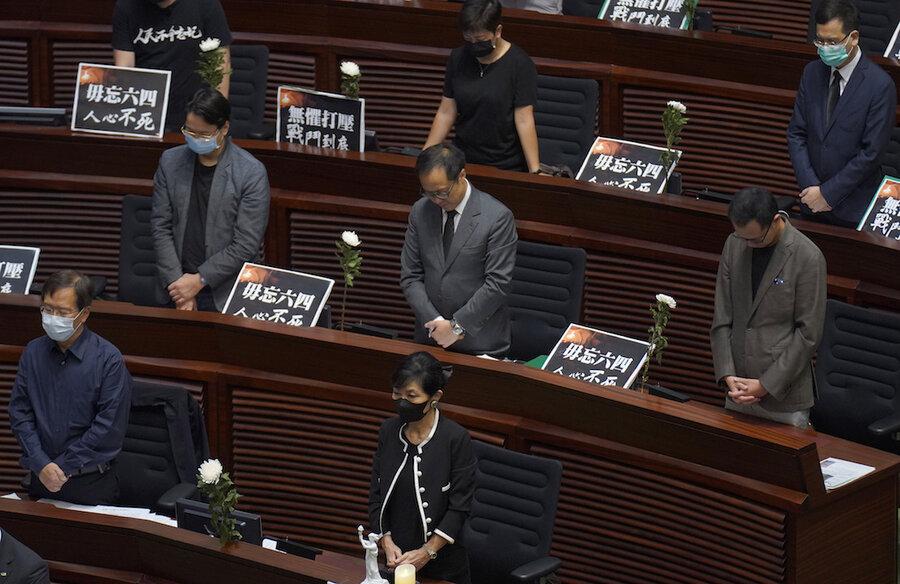 Hong Kong passes anthem law on Tiananmen anniversary