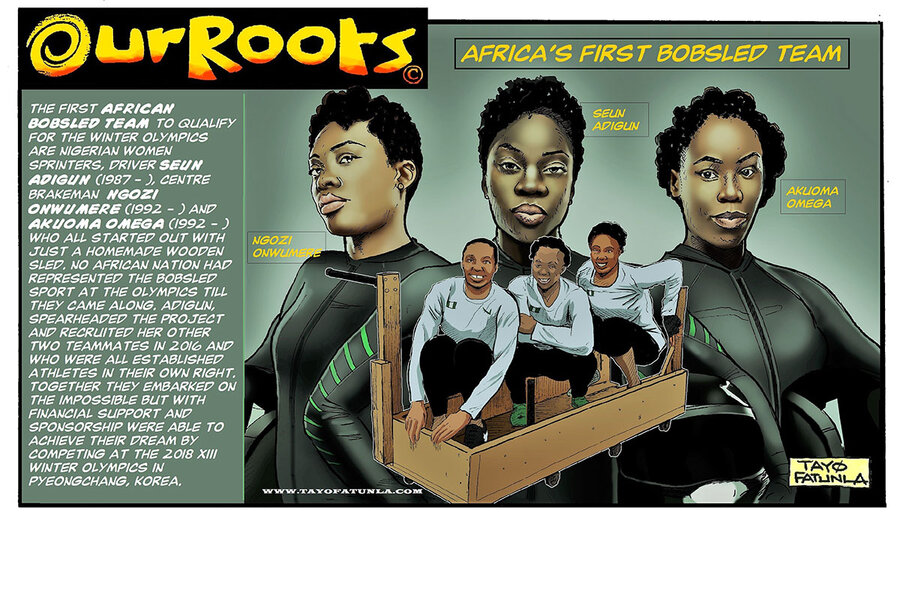 The African cartoonists drawing themselves into the story