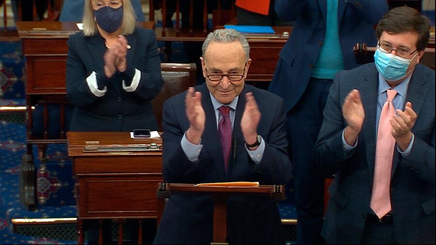 Senate approves $1.9 trillion pandemic relief bill – top Biden priority thumbnail