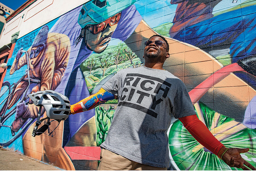 'Bicycles kind of saved my life.' Najari Smith spins a community forward.