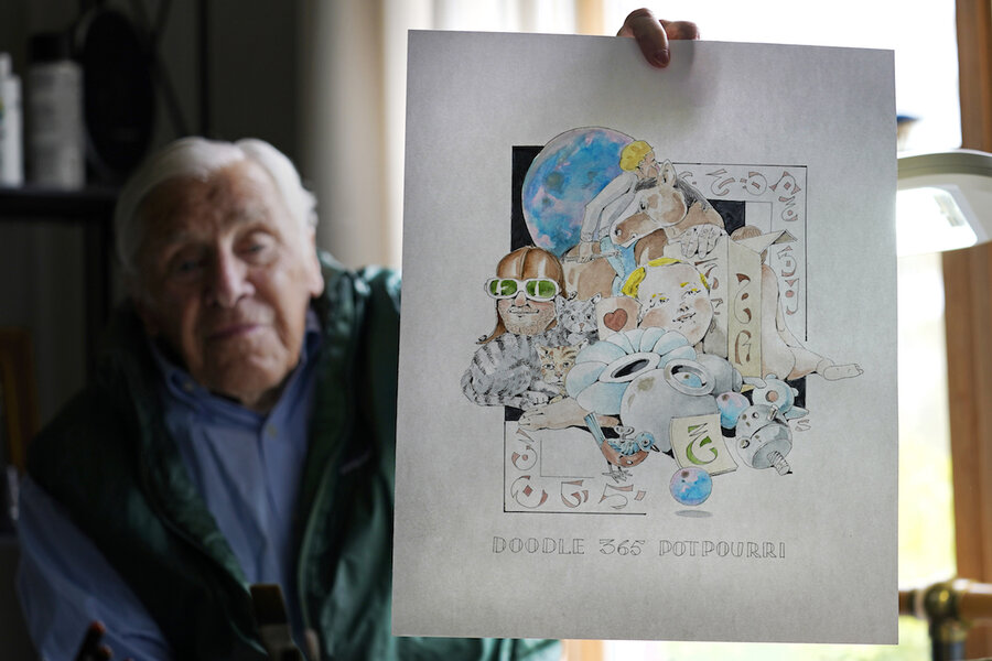 Never too late to doodle: How one man's pen lifts spirits