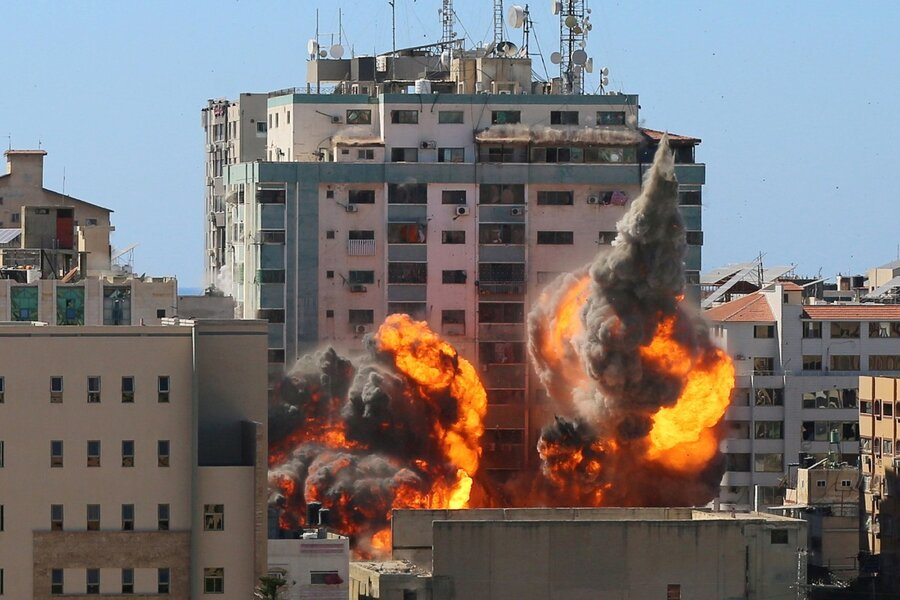 Gaza fighting: US tells Israel to protect media after tower hit