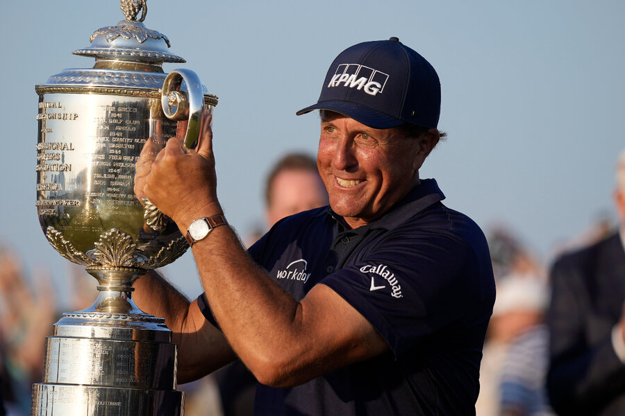 <p>Phil Mickelson becomes oldest golfer to win a major championship thumbnail