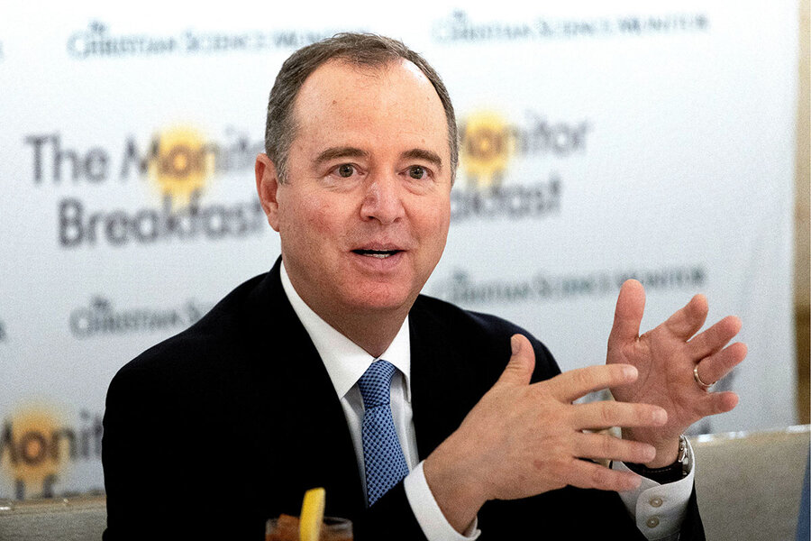 'It's about all future presidents.' Schiff on protecting democracy.