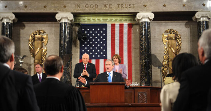 analysis of george w bushs state of the unions speech The following is an analysis of a speech given by the president of the united states, president george w bush on october 7, 2002 the speech was entitled president bush outlines iraqi threat and was presented at the cincinnati museum center at cincinnati union terminal, cincinnati, ohio.
