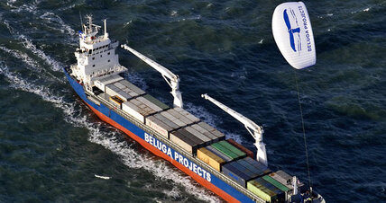 A secret to improving cargo ship efficiency: Go fly a kite