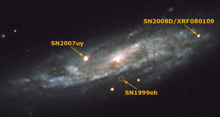 Seconds after star explodes, scientists watch young supernova