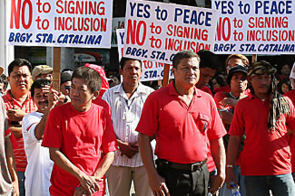 Philippines Peace Accord Blocked Csmonitor