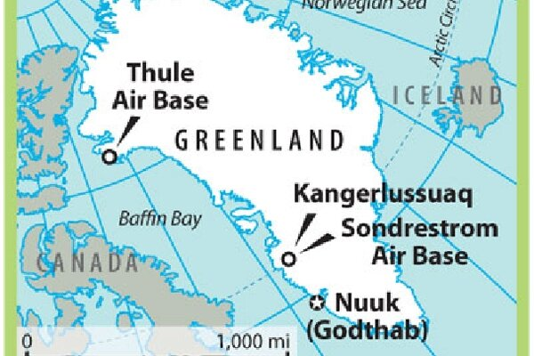 US Coldwar Waste Irks Greenland CSMonitorcom - Map of us air force installations
