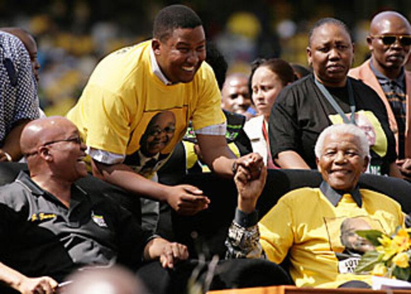Nelson Mandela Boosts Zuma At Final Anc Campaign Rally