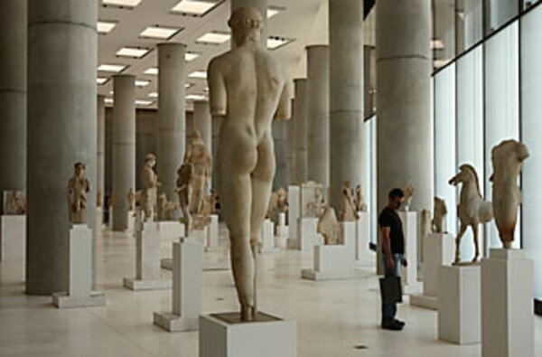 Showcased at Greece's new Acropolis Museum: missing artifacts