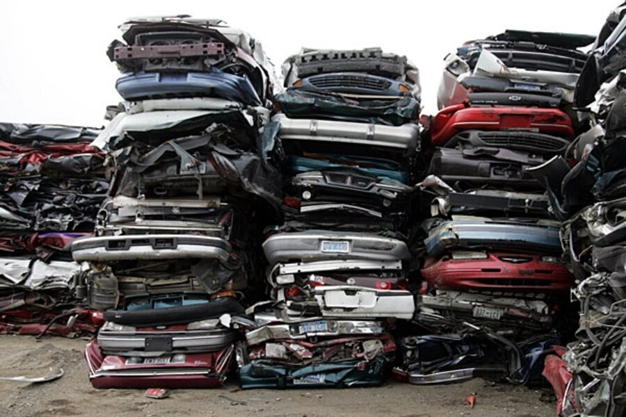 Cash For Clunkers >> 'Cash for clunkers': What happens to the old cars - CSMonitor.com