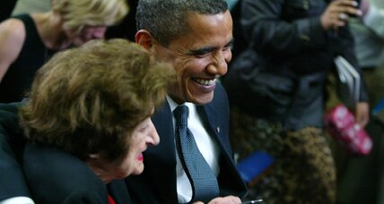 Obama sings Happy Birthday to himself (and Helen Thomas)