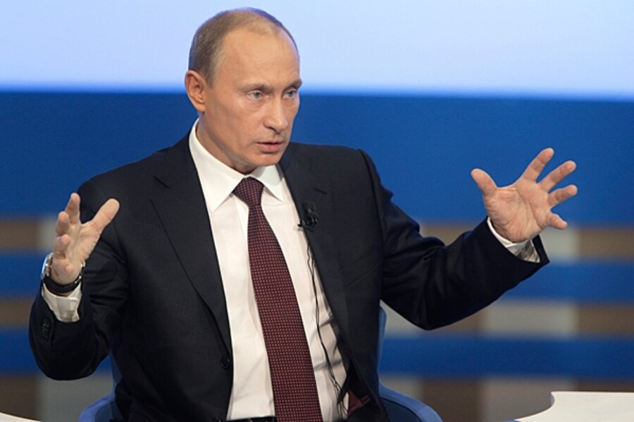 Vladimir Putin Shows He S Still The Boss In Annual Tv Chat With Russian People Csmonitor Com