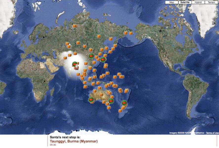 Santa tracker? NORAD and Google Maps show the way ... on santa visit, santa posters, santa schedule, santa home, baseball map tracker, santa satan,