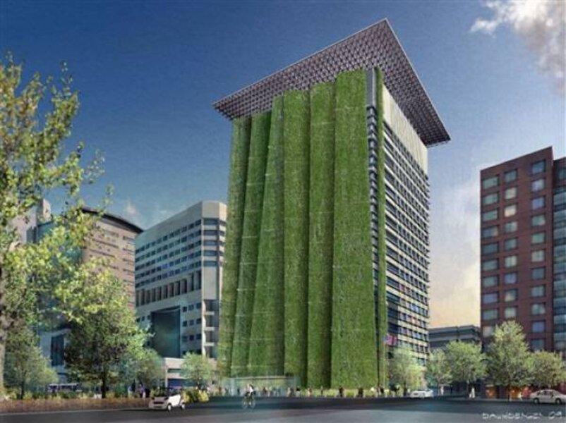 New green wonder: the Hanging Gardens of     Portland