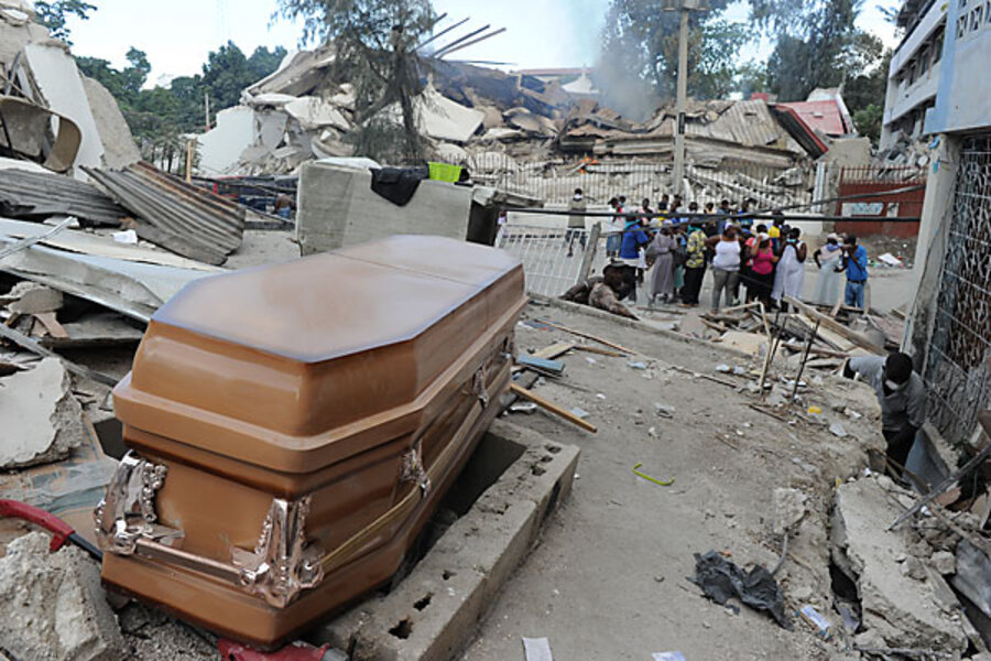 Haiti earthquake diary: A trip to the morgue - CSMonitor com