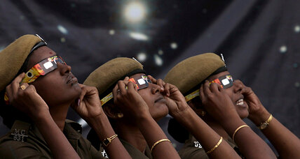 Annular solar eclipse: In India, a chanting temple goes silent