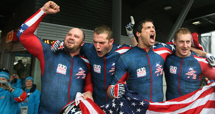 Gold rush: Steve Holcomb barrels US bobsled to top of podium