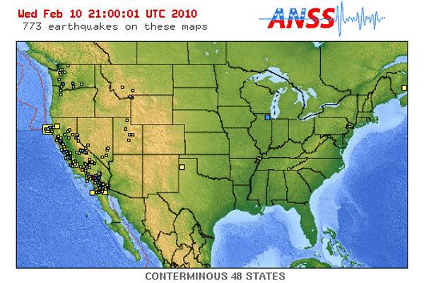 Illinois earthquake how bad is a 38 magnitude csmonitor how strong was the illinois earthquake not very heres a map of the 773 tremors to hit the us in the past seven days sciox Choice Image