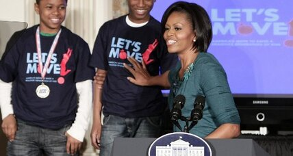 Michelle Obama says 'Let's Move' on obesity in American kids