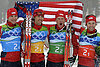 US Nordic combined team wins historic silver at Vancouver Olympics