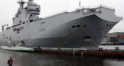 French warship to Russia: Risky precedent or a cruise ship painted gray?