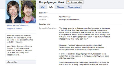 Facebook Celebrity Doppelganger Week: What you need to know