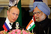 In India, Russia's Putin agrees to sell arms, energy