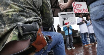 In 'open carry' states, guns and Starbucks mix uneasily