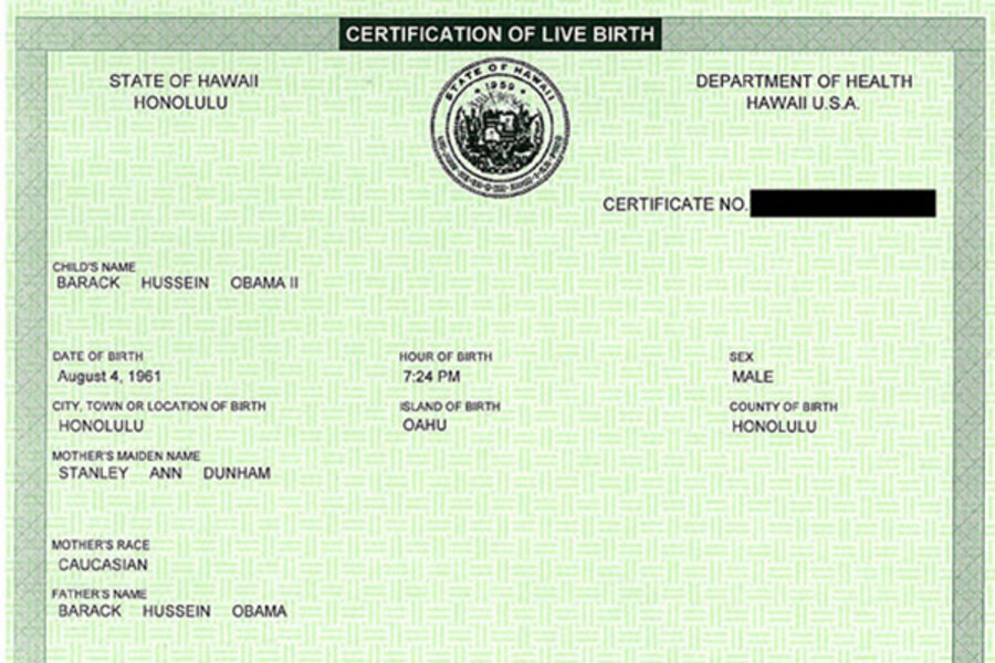 Hawaii Slams Door On Birthers Who Turn To Obama Social Security