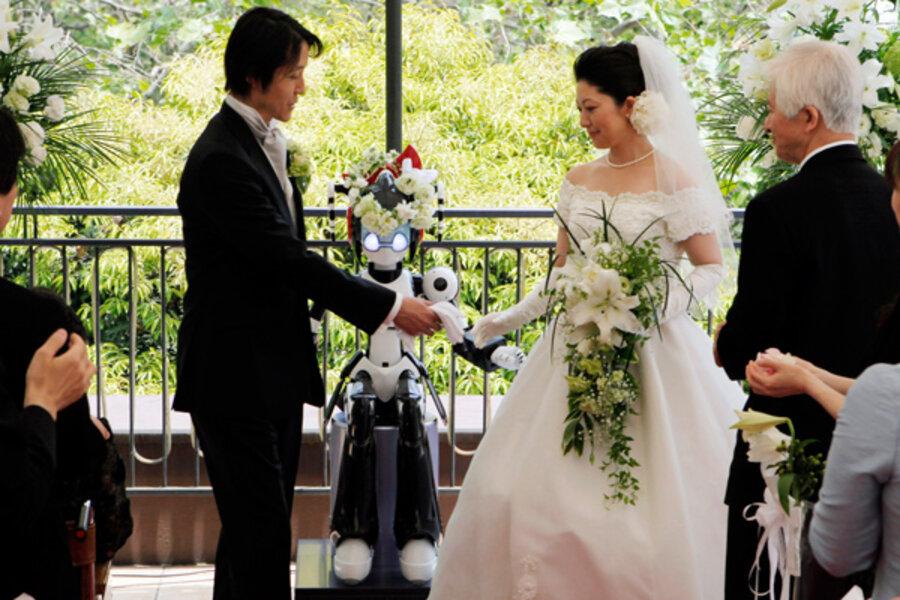 Eyes Flashing I Fairy Robot Conducts Wedding In Tokyo