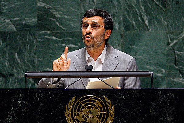 Ahmadinejad at the UN: US the real nuclear threat