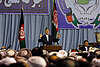 Afghanistan peace conference debates talking to Taliban