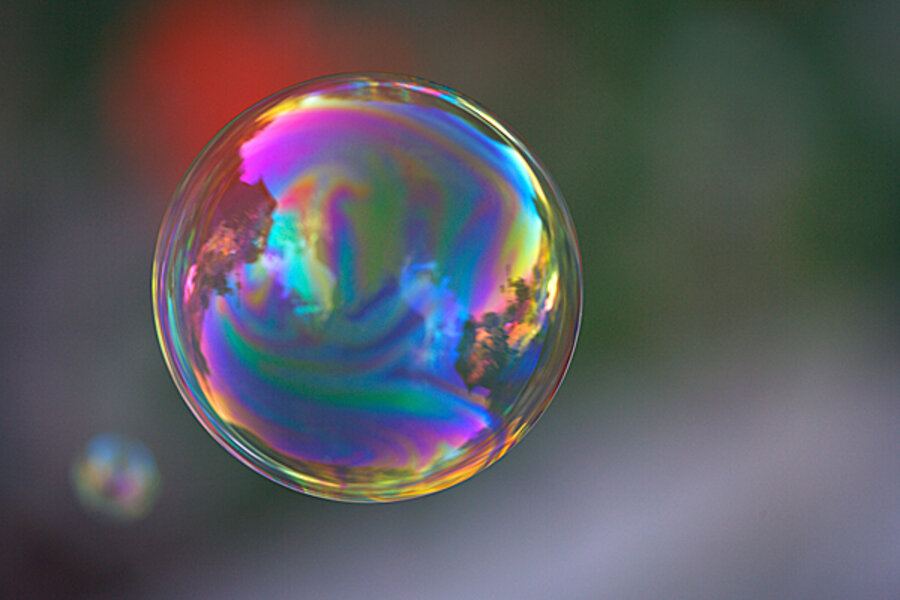 science of bursting bubbles has its bubble burst csmonitor com