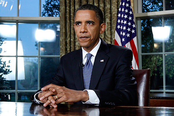 president barack obama delivering a televised address on the bp oil spill in the gulf of mexico from the oval office of the white house in washington barack obama oval office