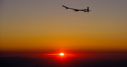 Solar energy powered plane lands after completing 24-hour flight
