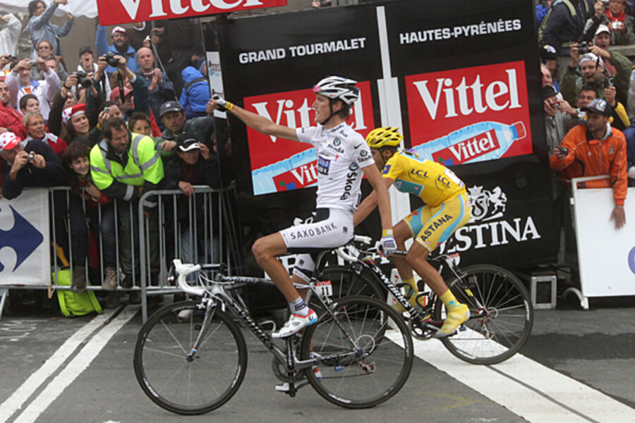tour de france stage 17 contador second by a hair but likely to
