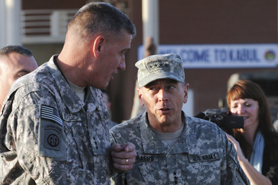 General Speaks Out On Afghanistan War >> General Petraeus Takes Command Of The Afghanistan War Csmonitor Com
