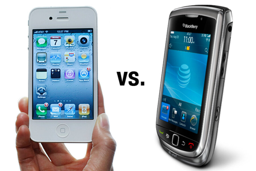 blackberry vs iphone iphone 4 vs blackberry torch how do they compare 9417
