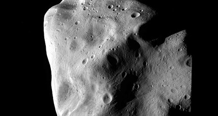 European space probe flies by asteroid, notes that it is really weird looking