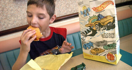 A supersized attack on McDonald's Happy Meal toys