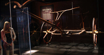 Did King Tut break his leg on a joy ride? His chariot now in New York.