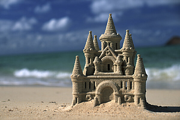 Image result for sandcastle washed away