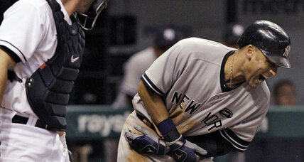 Derek Jeter sleight of hand convinced home plate umpire he'd been hit