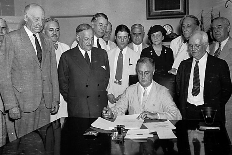 Franklin Denalo Roosevelt's new deal program Essay