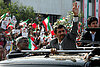 Iran's Ahmadinejad receives rapturous welcome in Lebanon