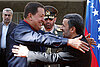 Hugo Chávez embraces Iran and Syria, wins Russian support for nuclear program