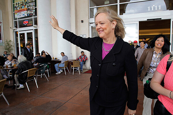 Is Meg Whitman putting herself down in California governor ad?