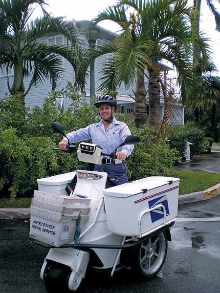 Your mail on an electric delivery cart: Postal Service goes
